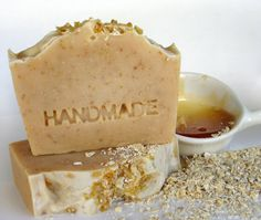 Olive Oil SoapCold process Soap  Honey & Oatmeal all by Elixirio, €5.00