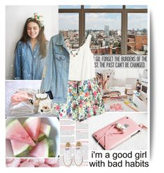 """""""I'm a good girl with bad habits"""" by muellermarie ❤ liked on Polyvore featuring KEEP ME, H&M, Carolyn Pollack/Relios, Converse, Mulberry, STELLA McCARTNEY and ESSEY"""