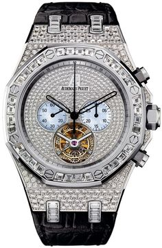 Royal Oak Diamond Tourbillon Chronograph White Gold Men's Watch