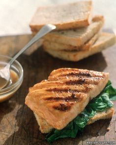 "See the ""Grilled Salmon Sandwich"" in our  gallery"