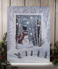 Look what I found on #zulily! Snowball Light-Up Canvas #zulilyfinds