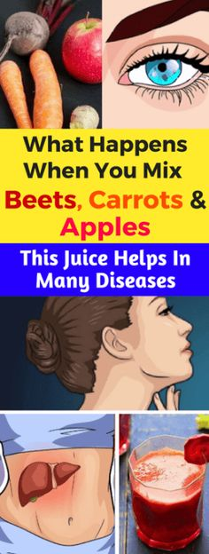 What Happens When You Mix Beets, Carrots & Apples. This Juice Helps In Many Diseases - Think Healthy Healthy Drinks, Healthy Tips, How To Stay Healthy, Detox Drinks, Healthy Smoothies, Organic Smoothies, Healthy Style, Healthy Juices, Healthy Meals