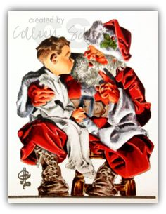 Santa's Lap image from Cornish Heritage Farms (retired image) colored with Copic markers.  I LOVE the dept I was able to get in this one!  (It did take 3 hours though!)