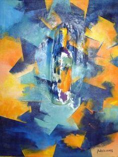 """""""Mi Bodega II""""  - Paula Weiszkopf -  Acrílico - 70  x 54 cm. www.esencialismo.com"""