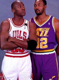 "Michael ""Air"" Jordan...Karl ""The Mailman"" Malone"