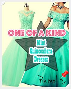 Mint Quinceanera gowns - Beautiful quinceanera and Sweet 16 gowns - Size Chart for choosing the ideal size. Low-cost quinceanera gowns and dress accessories for your fantasy party. Quinceanera Trends & Tips ? Does Your Quince Dress Have to be Mint? Mint Quinceanera Dresses, Fantasy Party, Peplum Dress, Dress Up, Quince Dresses, Young Female, Different Patterns, Pick One, Big Day