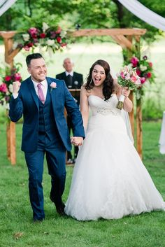 Don't forget to look as excited as all get out in the recessional; you just got married! Siloam Springs, Got Married, Don't Forget, That Look, Weddings, Photos, Pictures, Wedding, Marriage