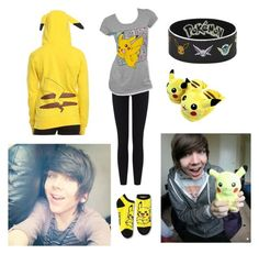 Watching Pokémon with Fizzy ♡ by dadyrabbit on Polyvore featuring polyvore mode style James Perse Disney