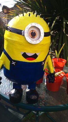 Despicable Me Minion HIT PINATA & CONFETTI,CHILDREN'S,PARTY GAME DECORATION. | eBay #Cute #Handmade #Minion #Pinata