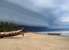Kokrobite beach Ghana - shot of a storm. Terrifying and awesome at the same time.
