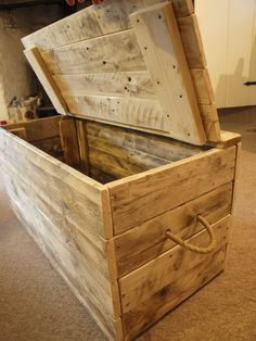 Wooden blanket box by ForgetMeKnotUK on Etsy