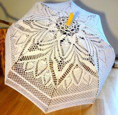 crocheted parasol
