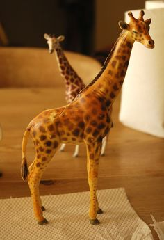 Step 1: This is an AAA Giraffe, which I will paint with acrylicsinto a Somali (Reticulated)Giraffe. The first thing to do is lightly san...