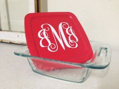 A personal favorite from my Etsy shop https://www.etsy.com/listing/207868707/etched-pyrex-8x8-square-bakeware-with