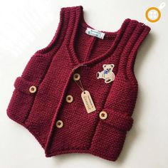 The most beautiful baby knitted vest and dress patterns - Knittting Crochet Baby Knitting Patterns, Lace Knitting, Knit Crochet, Baby Pullover, Knit Vest, Baby Sweaters, Kind Mode, Baby Kids, Pretty