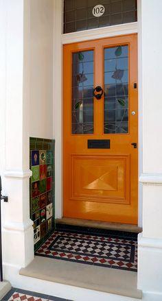 Beautiful, Victorian, Orange #FrontDoor in London