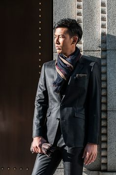 TOKYO CLASSIC - CHECK PATTERN BLACK SUITS