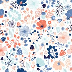 Pattern design showcase part 2 – Module 3 (April 2015 class) Pattern Drawing, Pattern Paper, Pattern Art, Beautiful Patterns, Pretty Patterns, Flower Patterns, Illustration Blume, Pattern Illustration, Motif Floral