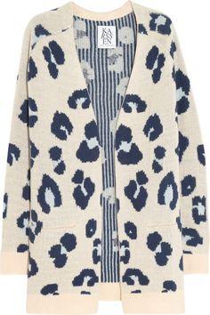 Zoe Karssen Leopard-pattern cashmere cardigan as seen on Rachel Bilson