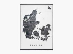 Danmarkskort Metal fra Martin Moore