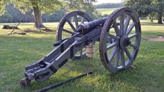 American 4 pounder of Doughty's Artillery at Manmouth Battlefield  - June 2014