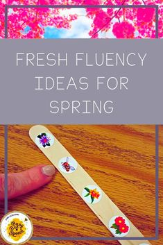 Easy Fluency Ideas for Speech Therapy this Spring!