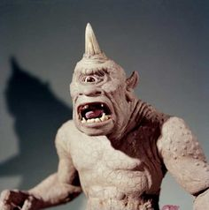 Ray Harryhausen's stop-motion Cyclops from the movie The Seventh Voyage of Sinbad.