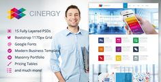 Cinergy - Modern Business Template . Cinergy HTML Version is available