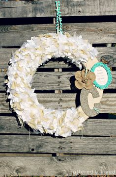 Tattered and Inked: {DIY Wedding Tips} Burlap, Linen & Tulle Wreath