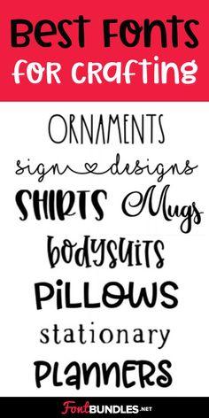 Check out our list of the 10 best fonts for Cricut crafting! Cute Fonts, Fancy Fonts, Kid Fonts, Cursive Fonts, Handwriting Fonts, Free Fonts For Cricut, Computer Font, Cricut Tutorials, Cricut Ideas