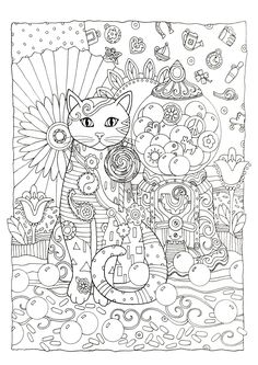 CATS Creative Cats Coloring Book By Marjorie Sarnat Dover Publications