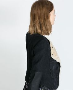 combination cropped jacket from Zara i think this is a must have