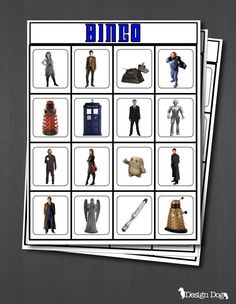 Dr. Who Party Bingo Game- Set of 15 Cards