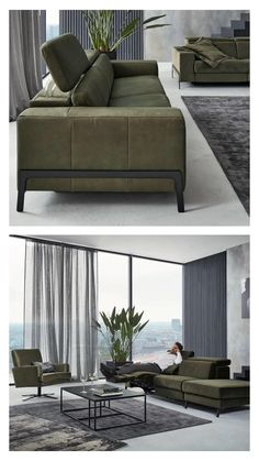 Living Room Sofa Design, Home Room Design, Living Room Modern, Home Living Room, Living Room Designs, Living Room Decor, Couch Design, Contemporary Couches, Contemporary Kitchens