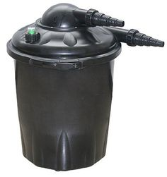 UV-C Filter 1000 Gallon Gallons: 2000 by Alpine. $229.00. PLF2000U Gallons: 2000 Features: -Filter.-Filter capacity: 1000 gallons.-Pond size: 1056 gallons.-Inlet/Outlet: 0.75'' to 1''. Specifications: -7 watt UV. Dimensions: -Dimensions: 15'' H x 11'' W x 11'' D.