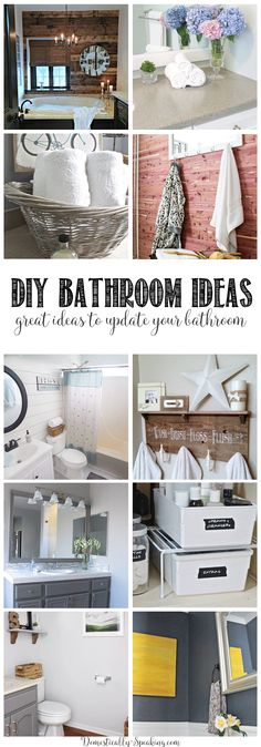 12 Great Bathroom DIY Projects - great updates for our bathroom that you can do from makeover to storage, organization ideas