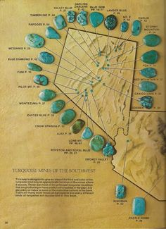 I'm definitely a fan of turquoise jewelry, but I don't usually pore over books on the subject. Minerals And Gemstones, Crystals Minerals, Rocks And Minerals, Stones And Crystals, Gems Jewelry, Stone Jewelry, Jewelry Crafts, Jewellery, Gem Hunt