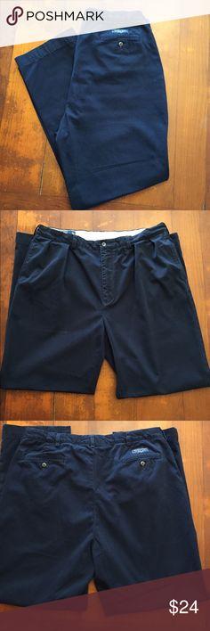 Ralph Lauren 100% Cotton Classic Andrew Pants Men Ralph Lauren 100% Cotton Classic Andrew Pants. Dark blue! Size 38x32! Pleaded Front! For Guys Polo by Ralph Lauren Pants Chinos & Khakis