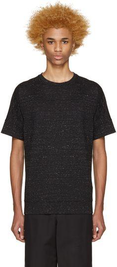Helmut Lang - Black Seamed T-Shirt