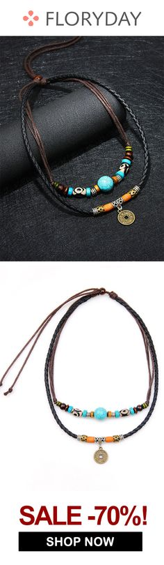 Shop Floryday for affordable Jewelry. Floryday offers latest ladies' Jewelry collections to fit every occasion. Handmade Leather Jewelry, Rustic Jewelry, Boho Jewelry, Beaded Jewelry, Jewelery, Jewelry Design, Beaded Bracelets, Ethnic Jewelry, Diy Necklace