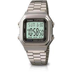 f7417a8acf0 Relógio Masculino Casio Digital Vintage com Pulseira de Metal A178WA-1ADF