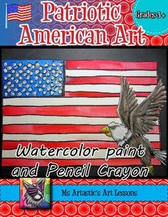 Time+to+stretch+those+patriotic+legs!+Create+an+American+themed+art+piece+using+a+variety+of+techniques+with+both+watercolor+paint+and+pencil+crayon!+This+is+great+for+American+Holidays,+Socials+Studies+or+just+because+you+LOVE+living+in+the+USA!+Your+students+will+really+love+this! (scheduled via http://www.tailwindapp.com?utm_source=pinterest&utm_medium=twpin&utm_content=post29659462&utm_campaign=scheduler_attribution)