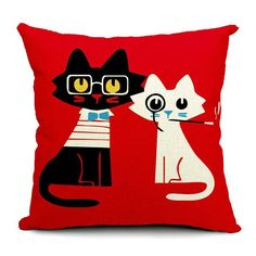 Cat Style Fashion Pillow Cover