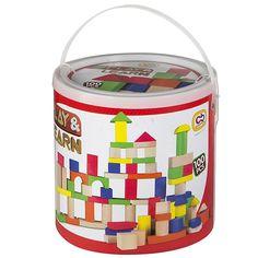 Color Baby - Juego de 100 bloques de madera (40993): Amazon.es: Juguetes y juegos