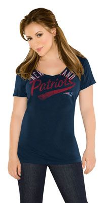 Navy Audible V-Neck T-Shirt