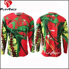 2016 Fury Race Men Women Downhill Jerseys MTB Mountain Bike Motocross Motorcycle BMX Shirt Cycling Bicycle Jersey DH Clothing