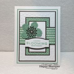 Stampin Up, Botanical Builder Framelits, Project Life, Flower Patch, Birthday Bouquet DSP