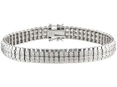 Bella Luce(R) 11.15ctw Rhodium Plated Sterling Silver Bracelet