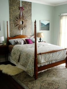 Wallpaper Magic - Budget-Friendly Headboards on HGTV