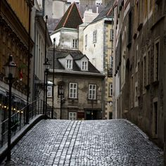 Cobblestone Street, Vienna, Austria photo via felicia